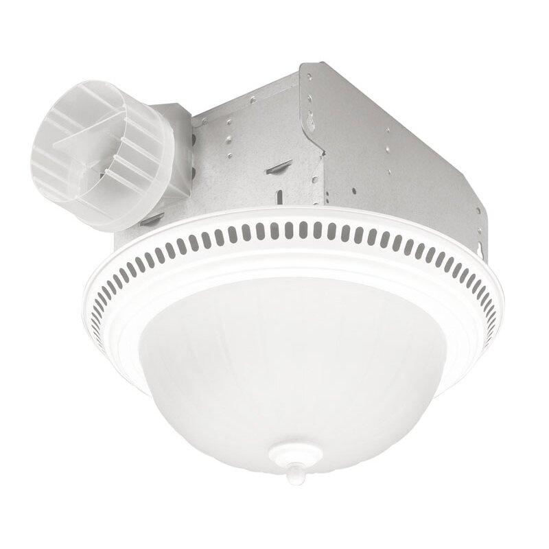 Shop Broan 3 5 Sone 70 Cfm Satin Nickel Bathroom Fan With: Broan 70 CFM Bathroom Fan With Light & Reviews
