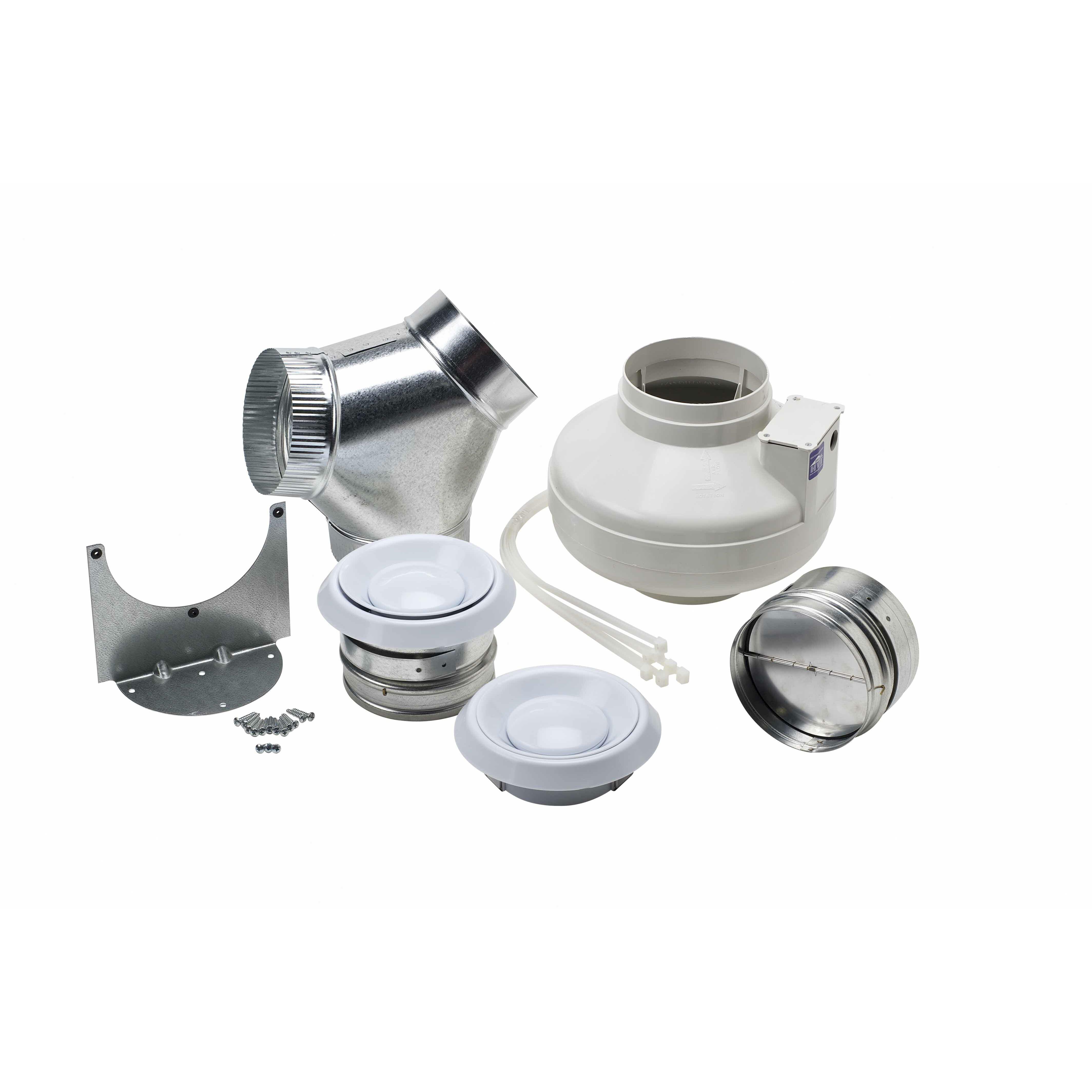 Broan remote in line fan kit wayfair for Remote kitchen exhaust fan