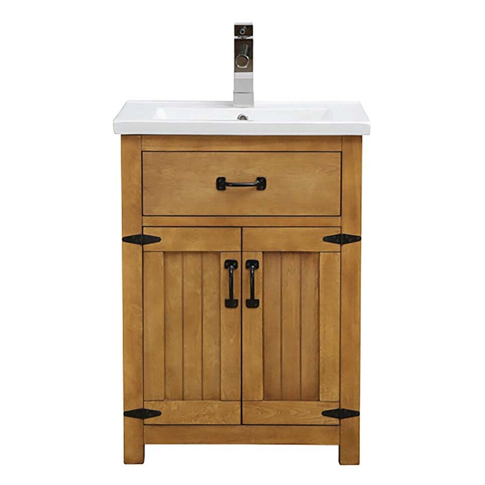 Decolav countryside 24 single freestanding vanity set wayfair for Freestanding 24 inch bathroom vanity