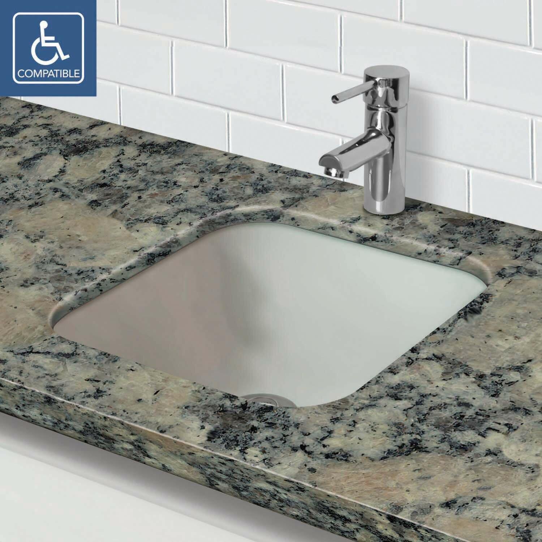 Decolav Translucence Square Undermount Glass Lavatory Sink Wayfair