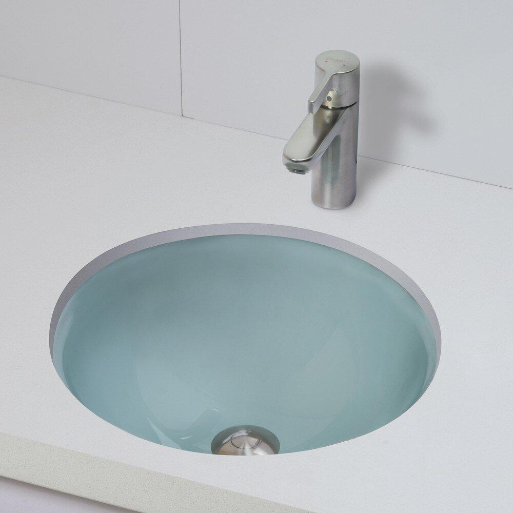 DECOLAV Translucence Round 12mm Glass Undermount Bathroom ...