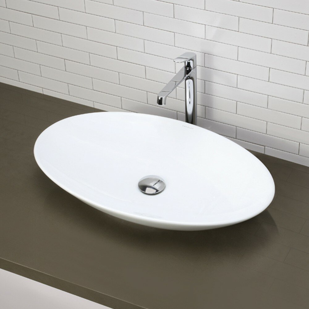 ... Classically Redefined Oval Vessel Bathroom Sink & Reviews Wayfair