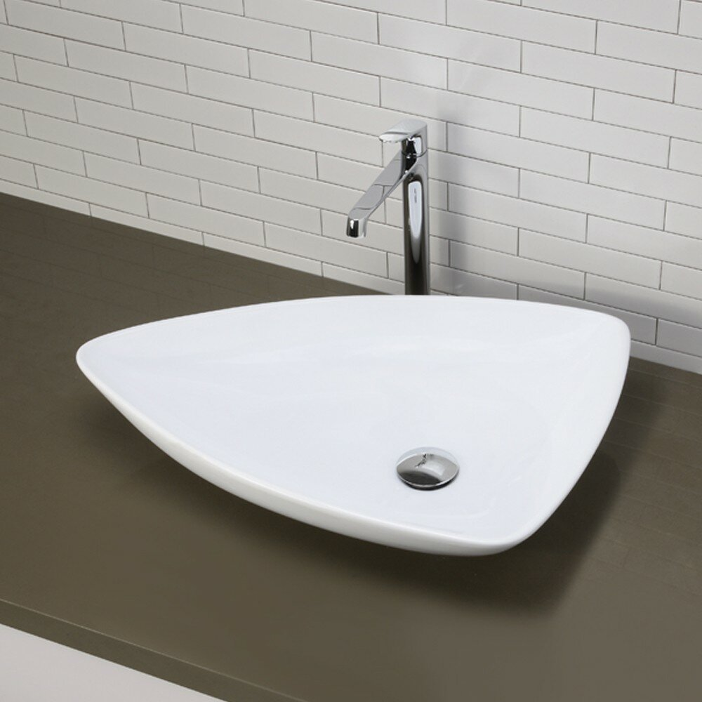 Decolav Classically Redefined Triangular Vessel Bathroom