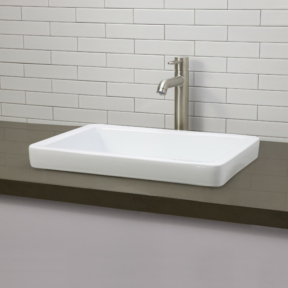 semi recessed bathroom sink decolav classically redefined semi recessed bathroom sink 20333