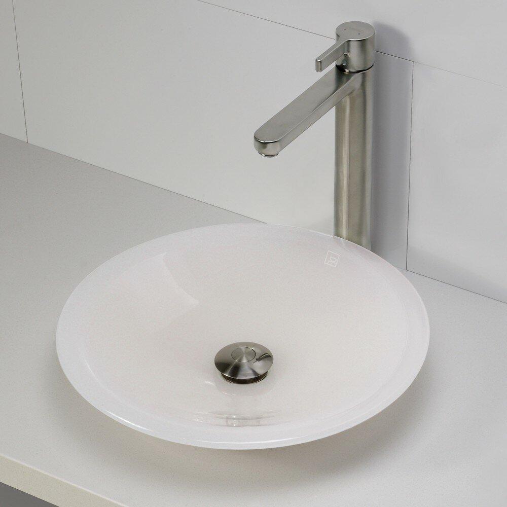 DECOLAV Incandescence Round Vessel Bathroom Sink & Reviews Wayfair