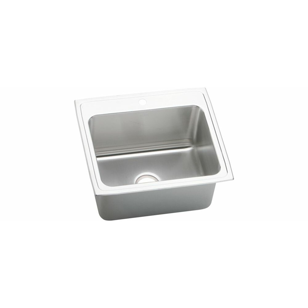 "Elkay Kitchen Sinks: Elkay Gourmet 25"" X 22"" X 10.13"" Top Mount Kitchen Sink"