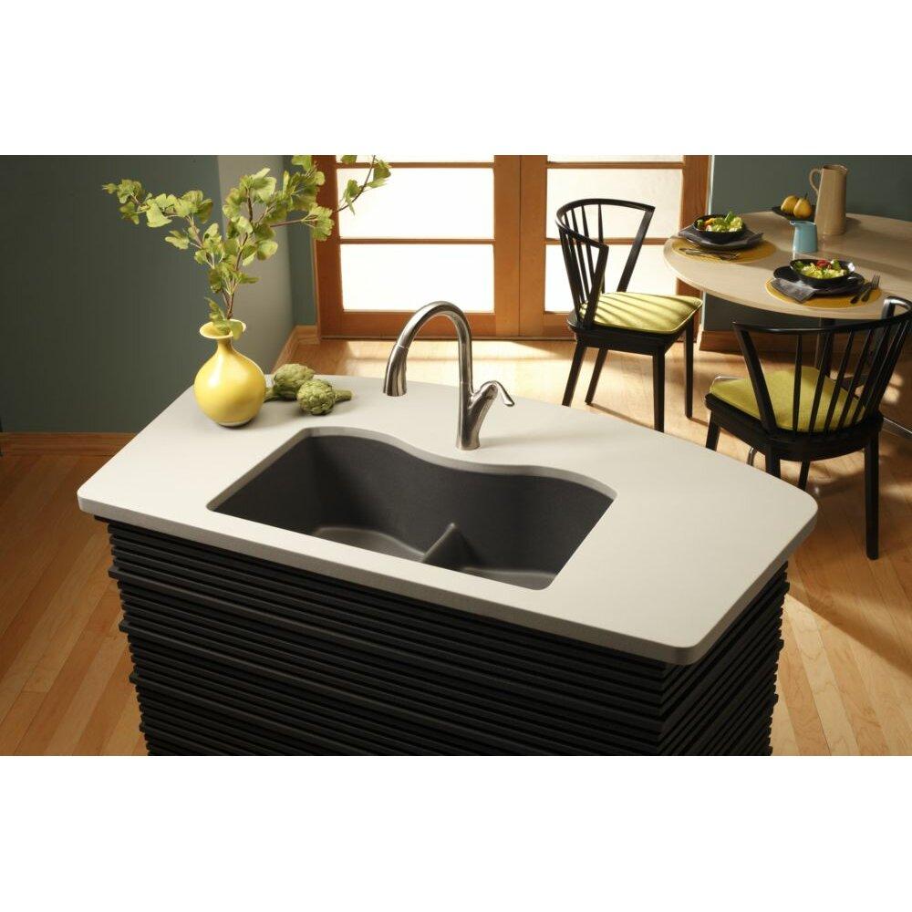 Elkay Quartz Classic 33 X 20 1 Undermount Kitchen Sink Reviews Wayfair