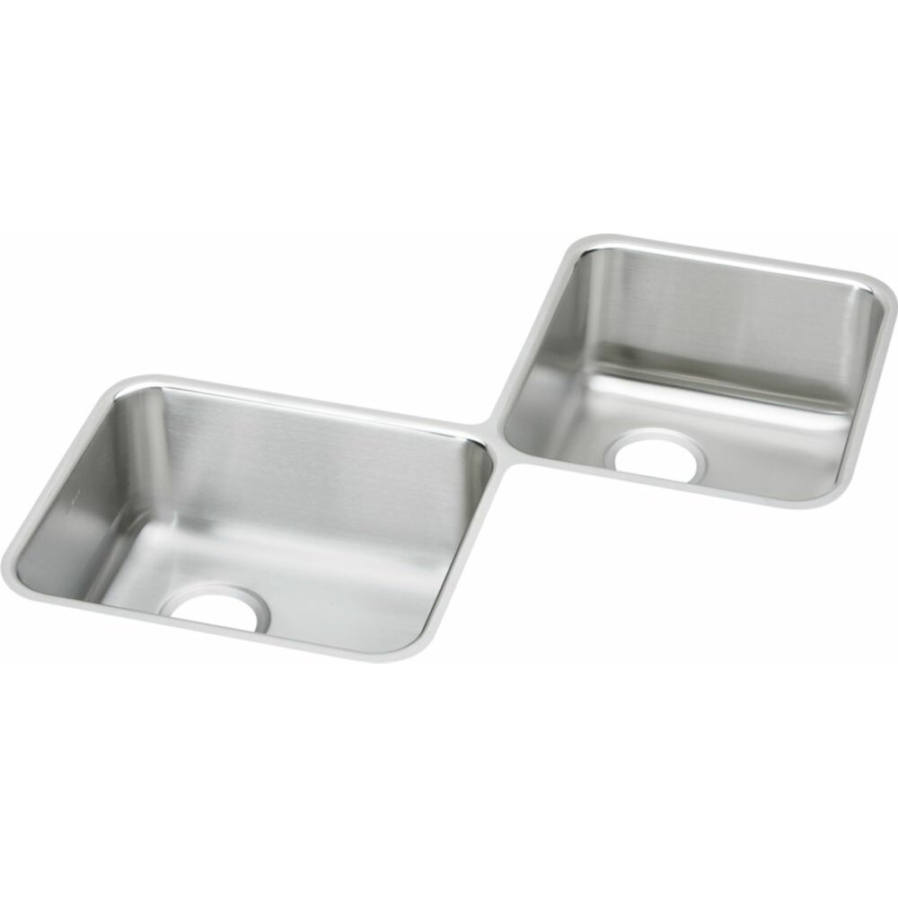 Elkay Lustertone 32 X 32 Undermount Double Bowl Corner Kitchen Sink Reviews Wayfair