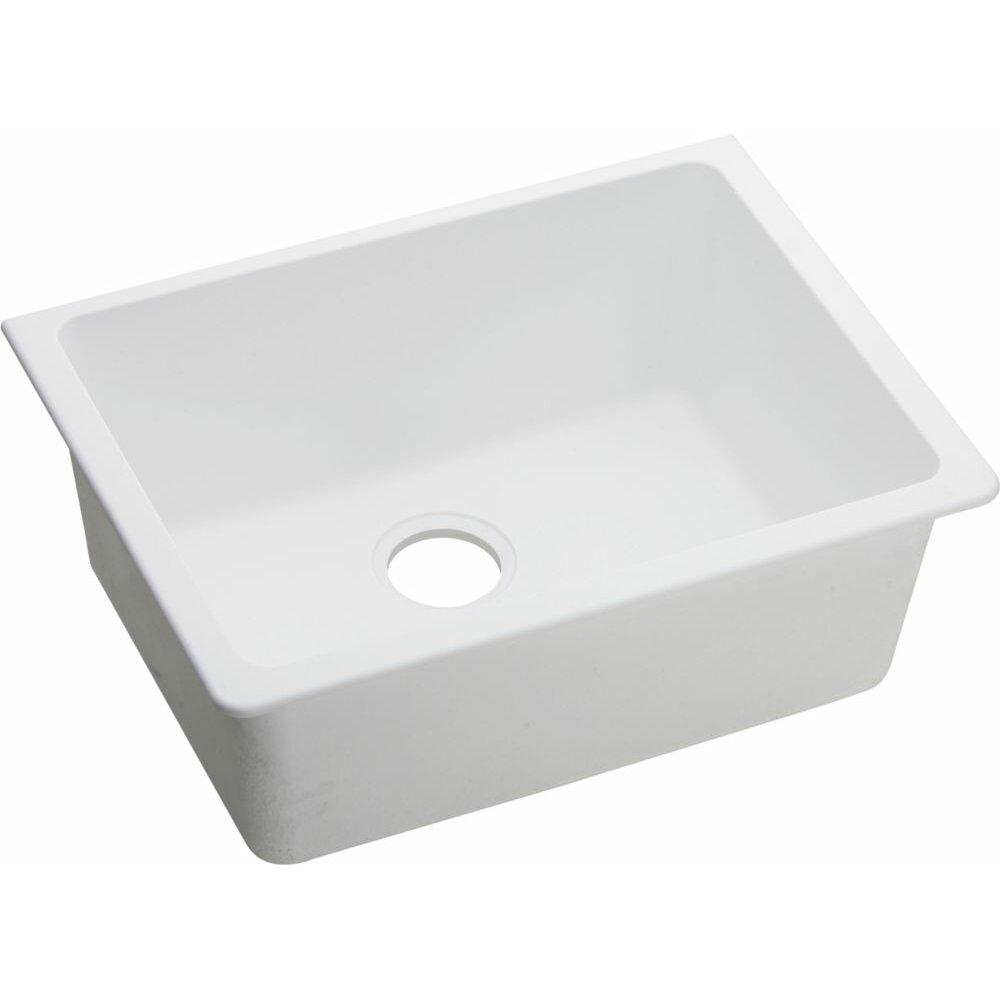 Elkay Quartz Classic 25 X 18 5 Undermount Kitchen Sink Reviews Wayfair