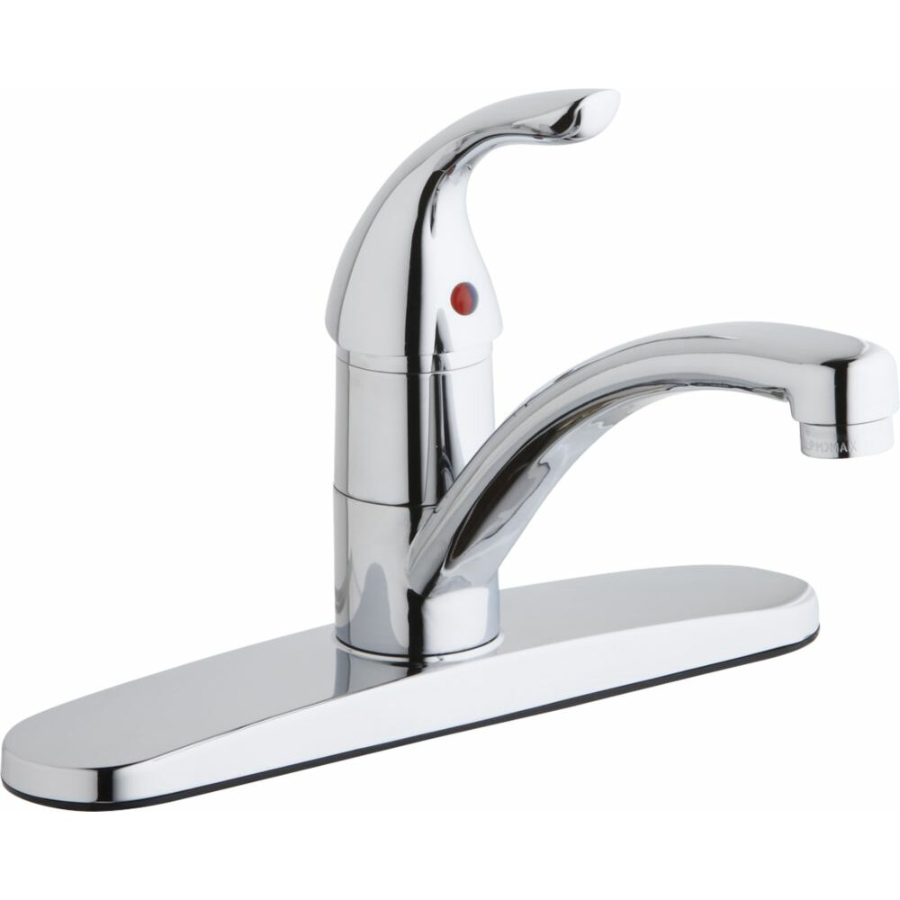Single Lever Kitchen Faucet: Elkay Single Handle Deck Mount Kitchen Faucet