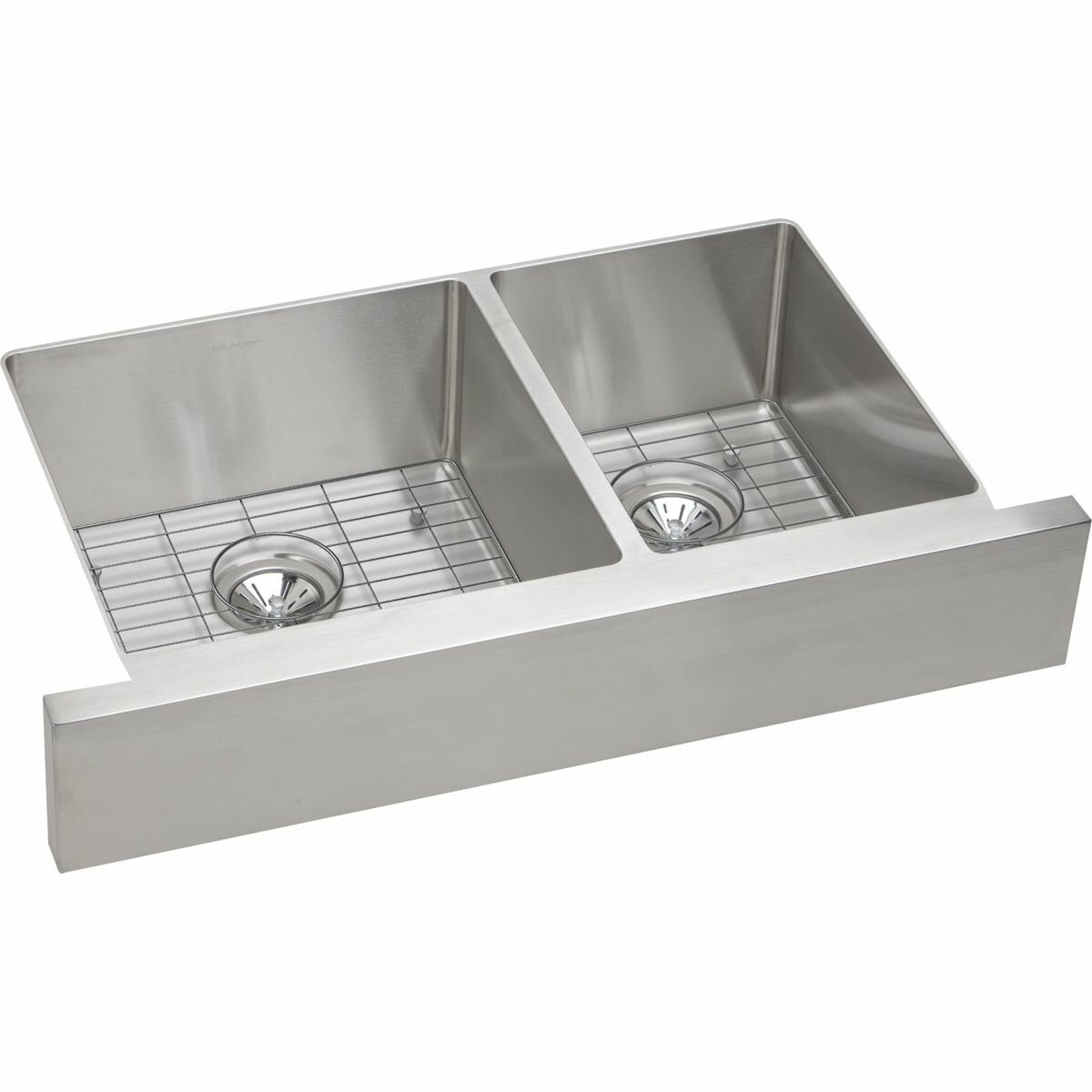 Double Bowl Apron Front Sink : Elkay Crosstown Double Bowl Apron Front Undermount Kitchen Sink ...