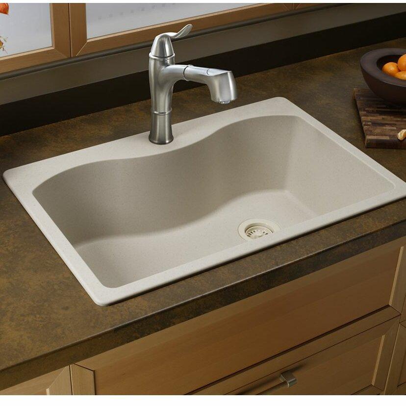Elkay Quartz Classic 33 X 22 Single Bowl Top Kitchen Sink Wayfair