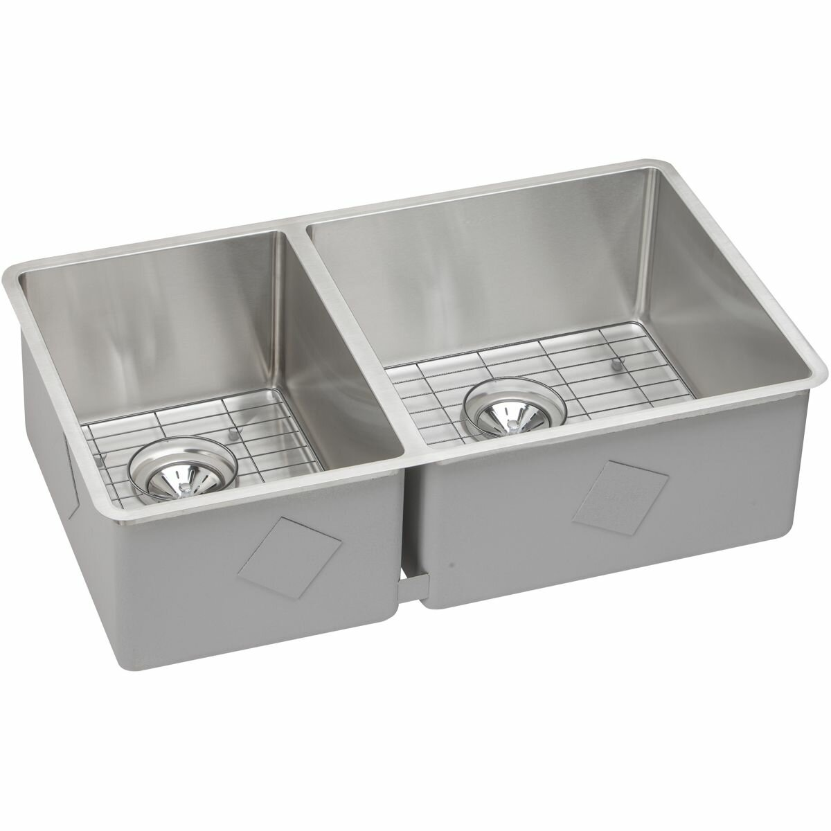 kitchen sinks stainless steel double bowl elkay crosstown 31 5 quot x 18 5 quot stainless steel bowl 9592