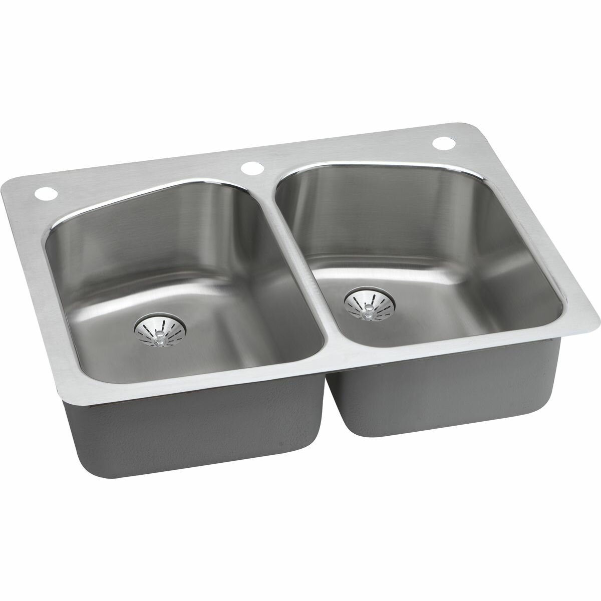dual mount stainless steel kitchen sink elkay harmony 33 quot x 22 quot stainless steel equal bowl 9628