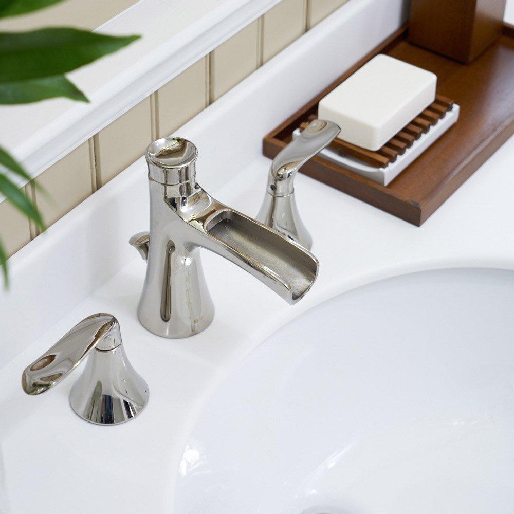 Speakman Caspian Double Handle Widespread Bathroom Faucet