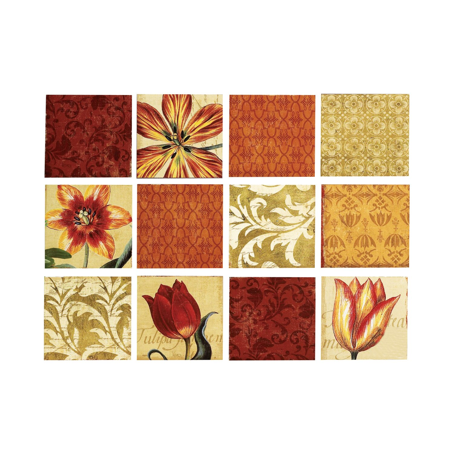 tulip border wall stickers - photo #18