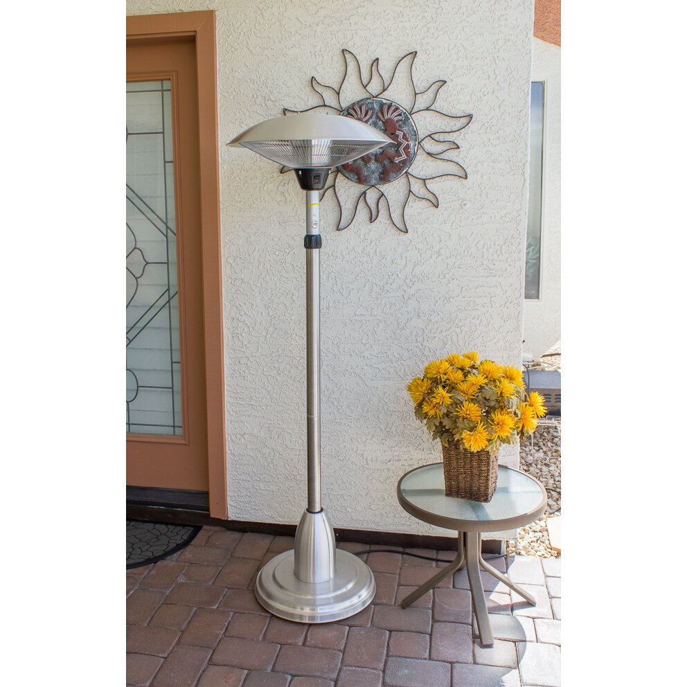 AZ Patio Heaters Adjustable Free Standing Electric Patio ...
