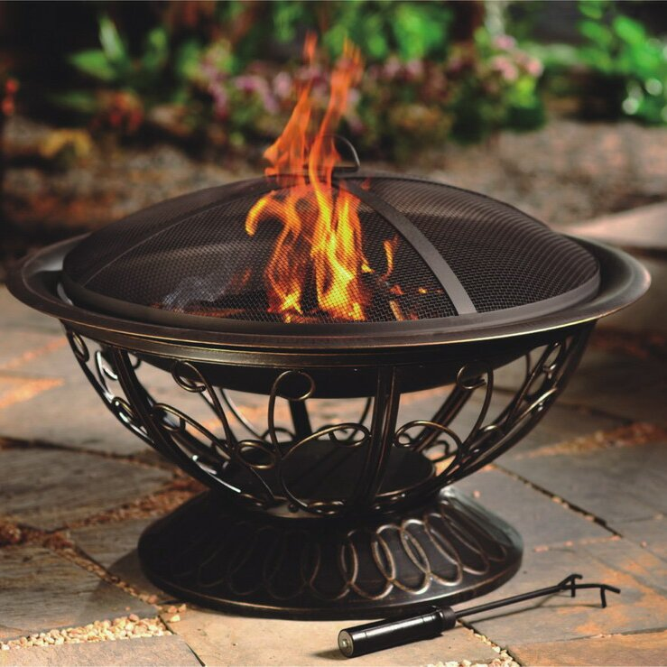 Patio Heater Fire Pit: AZ Patio Heaters Wood Burning Fire Pit & Reviews
