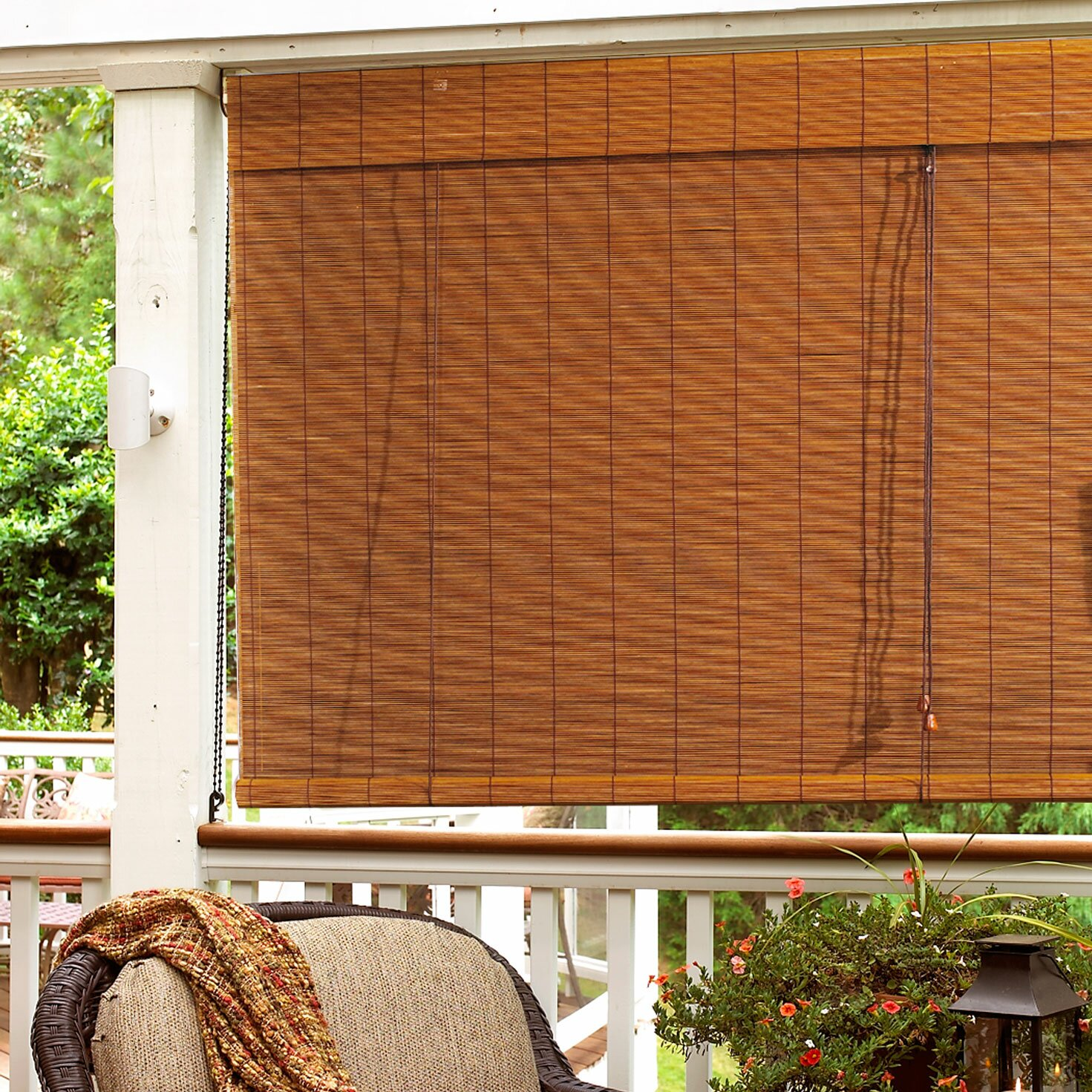 bay isle home outdoor bamboo roll up blind reviews wayfair. Black Bedroom Furniture Sets. Home Design Ideas