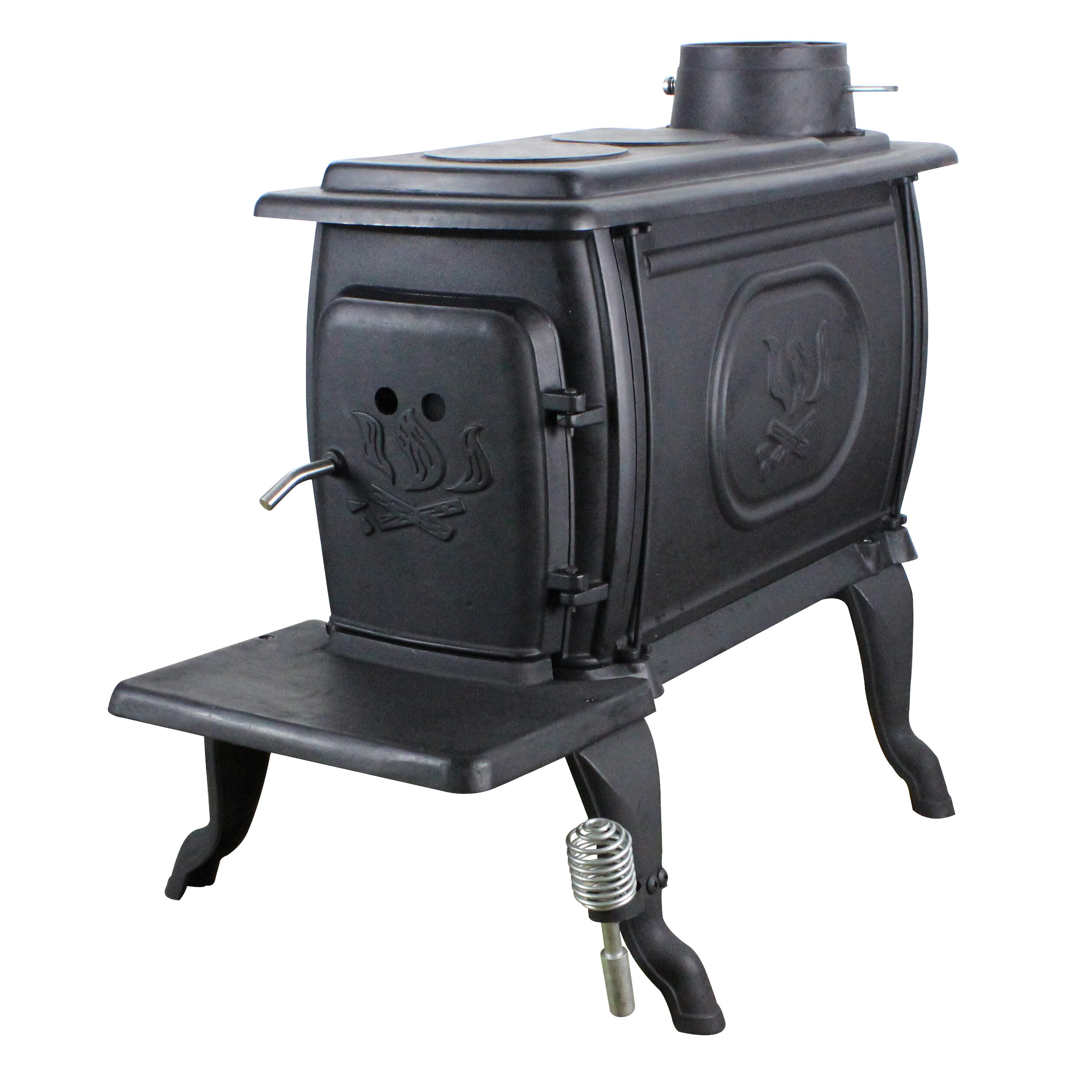 us stove epa certified cast iron log 900 square foot wood stove wayfair. Black Bedroom Furniture Sets. Home Design Ideas
