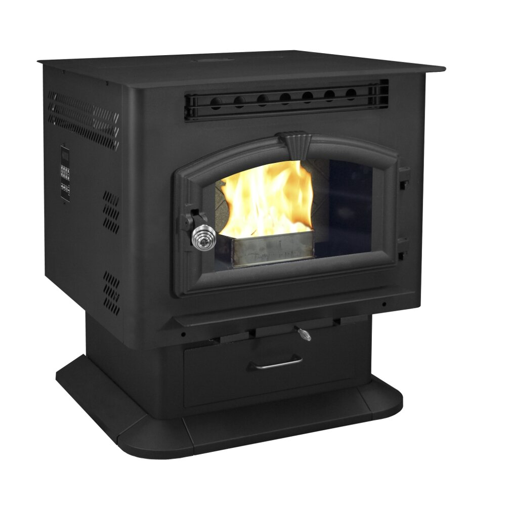 Us stove pedestal model corn pellet stove reviews wayfair - Pellet stoves for small spaces set ...