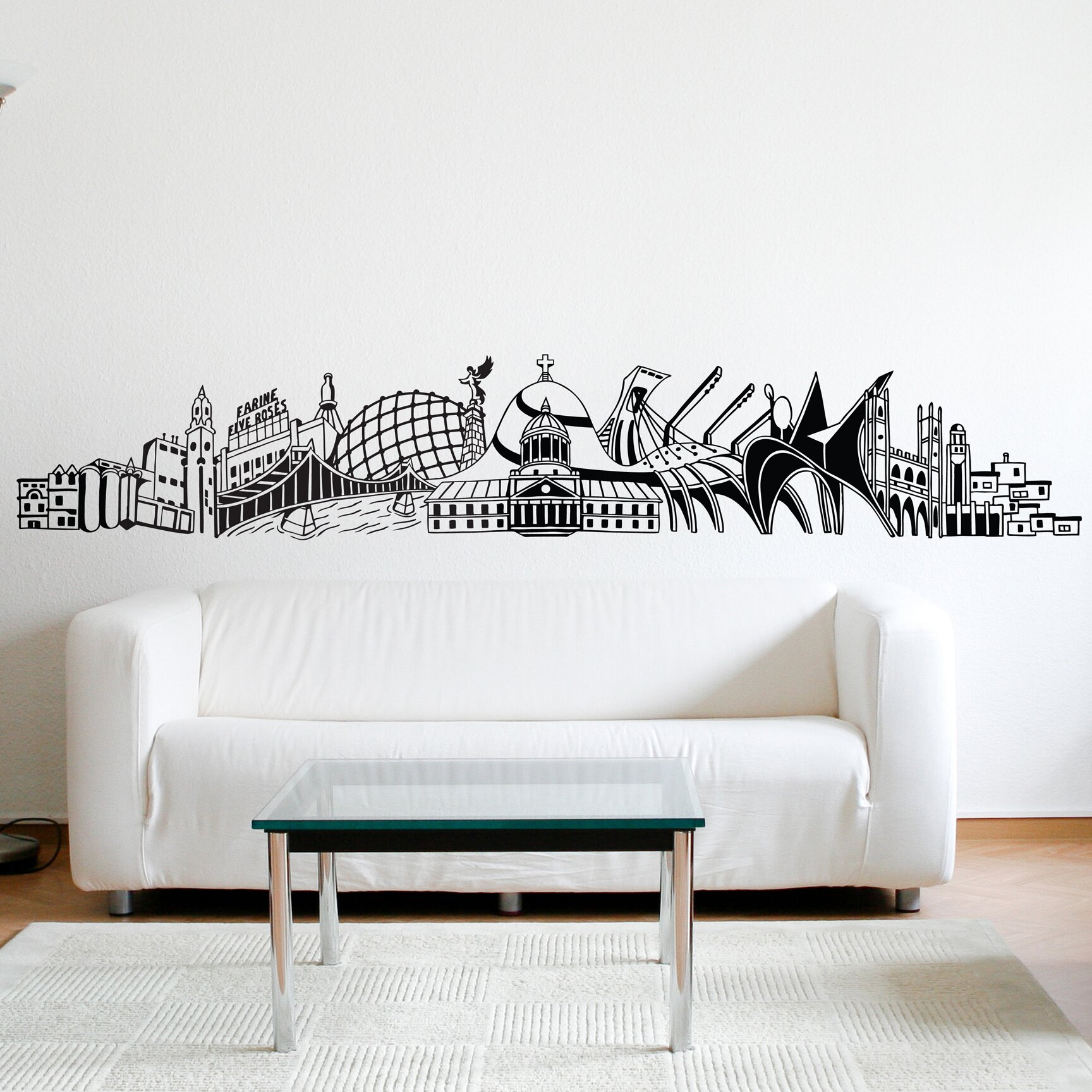Adzif xxl into montreal wall mural wayfair for Decor mural xxl