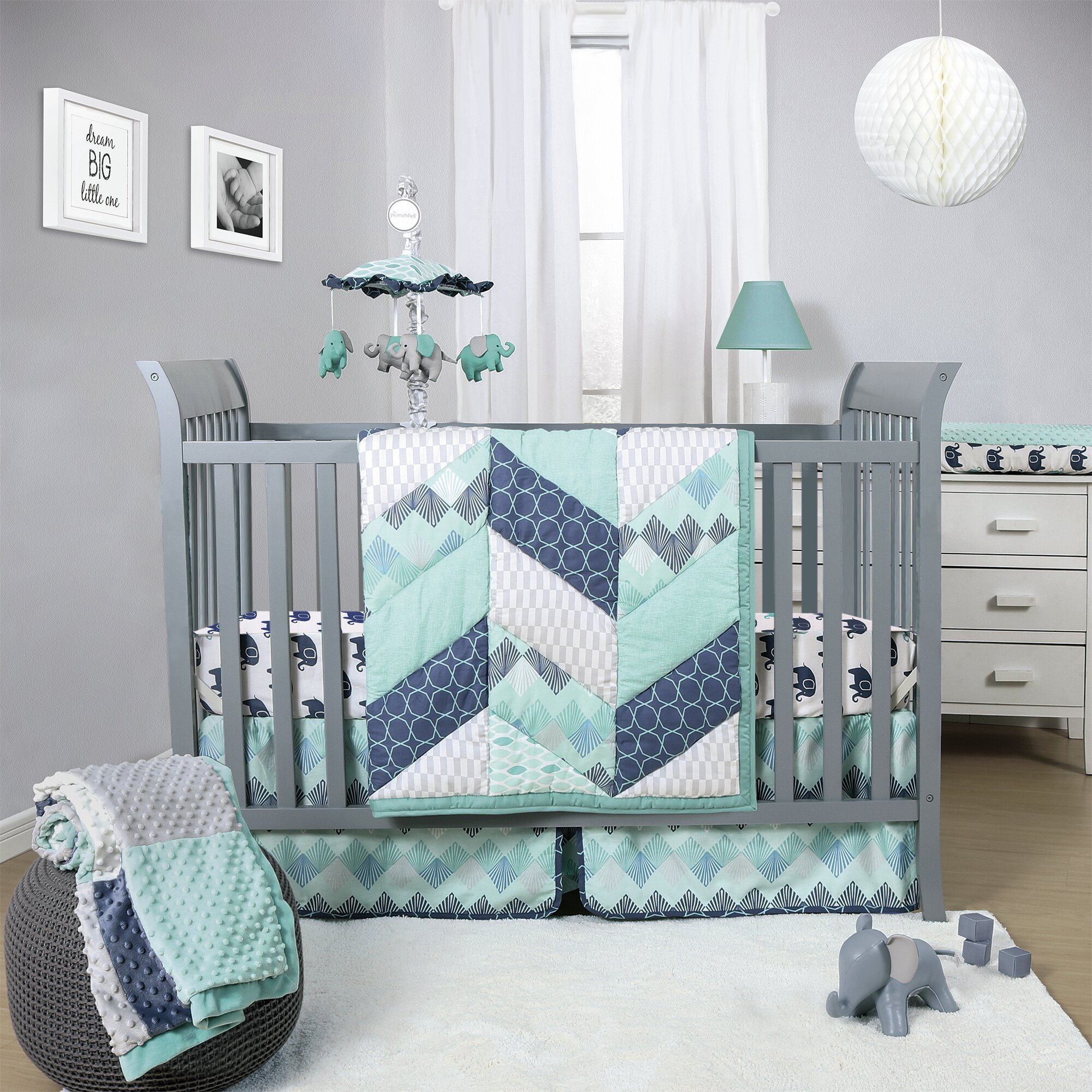The Peanut Shell Mosaic 3 Piece Crib Bedding Set Reviews
