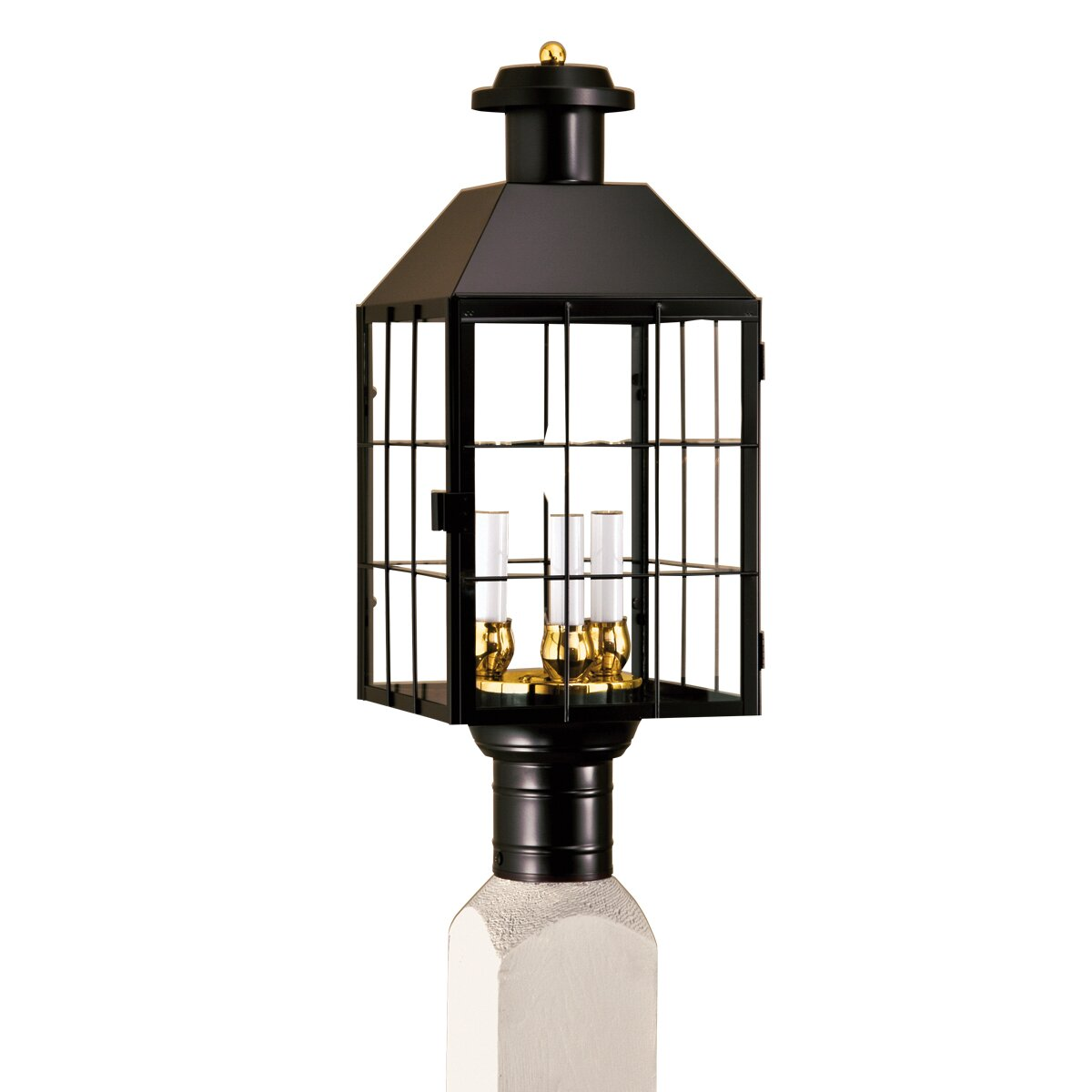 Norwell lighting american heritage 3 light outdoor post - Early american exterior lighting ...